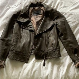 authentic leather jacket - aritzia mackage collab
